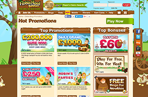 Plenty of promotions and deals to be had at Robin Hood Bingo