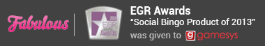 eGR Award for Social Bingo Product of 2013 was given to Gamesys