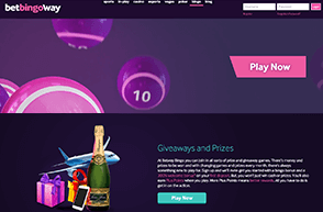 Landing page of Betway Bingo