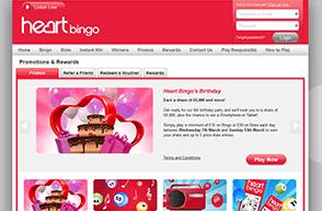 Heart Bingo and its promotions